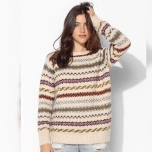 {URBAN OUTFITTERS} FAIR ISLE WOOL BLEND SWEATER